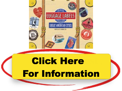 great american cities luggage labels travel stickers uncomplicated